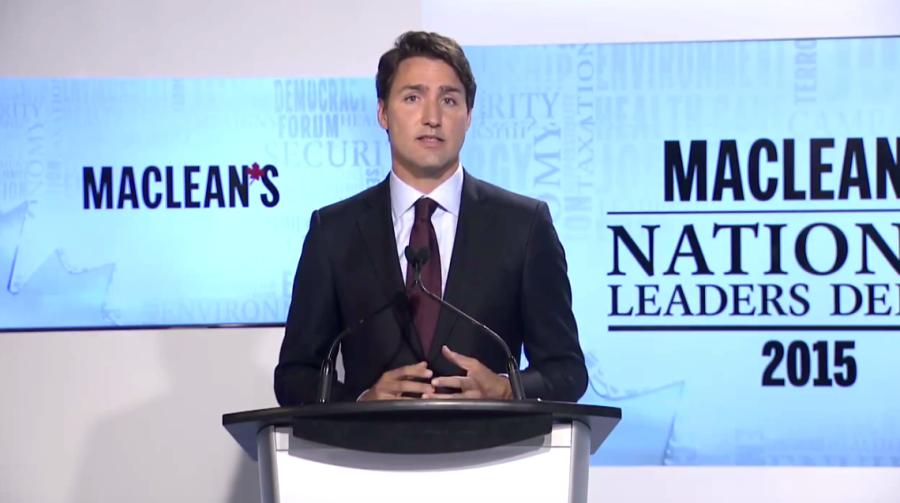 Justin Trudeau Macleans Debate